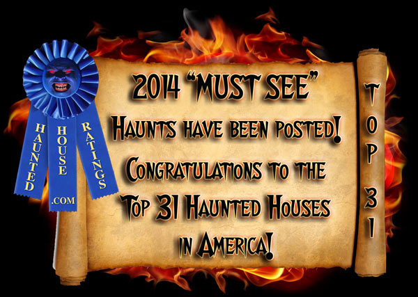 2014 Best Haunted House Ratings - Best Haunted House Awards Announced!